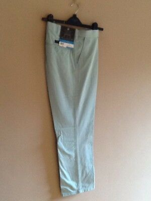 Mens Aqua Chino Trousers By Atlantic Bay/bhs 42s Bnwt • 9.99£