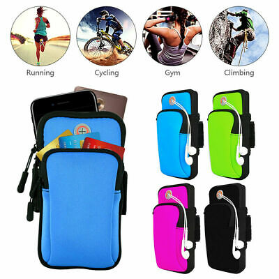 AU15.19 • Buy Armband Pouch Case Sports GYM Running Exercise Arm Band Holder For Apple Phones