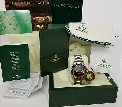 $ CDN12932.99 • Buy Rolex GMT Master II 16710 Stainless Steel F Serial Watch W Box Papers