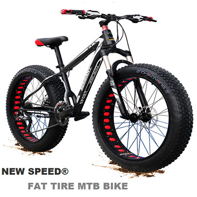 "View Details Mountain Bike/Bicycle NEW SPEED® Men/Women Fat Tire 26""MTB Frame Full Suspension • 449.99£"