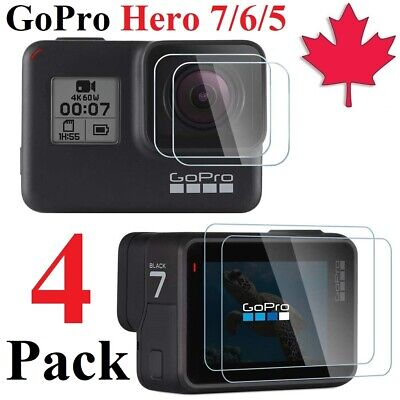 $ CDN7.95 • Buy Premium Tempered Glass Screen Protector For GoPro Hero 7 | 6 | 5 (4 Pack)