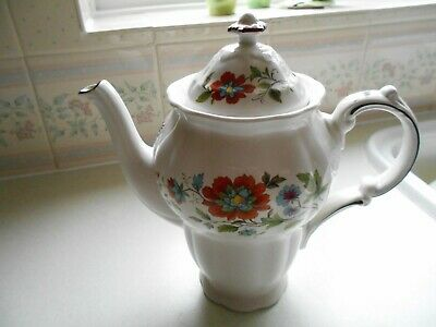 Ridgway Pottery  Ironstone Coffee Pot Gilded Floral  Mandalay Vintage • 14.99£