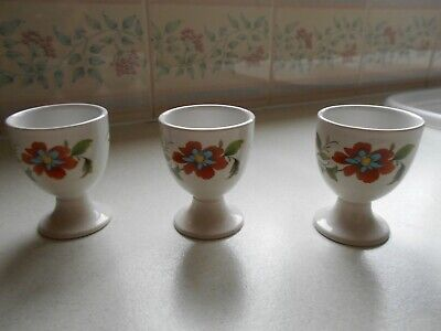 Ridgway Pottery Ironstone Eggcups X 3  Floral Mandalay Pattern • 8.99£