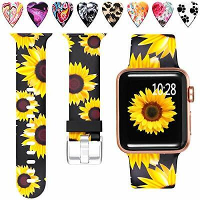 $ CDN17.97 • Buy Apple Watch 42mm 44mm Sunflower Replacement Band For IWatch Series 5 4 3 2 1