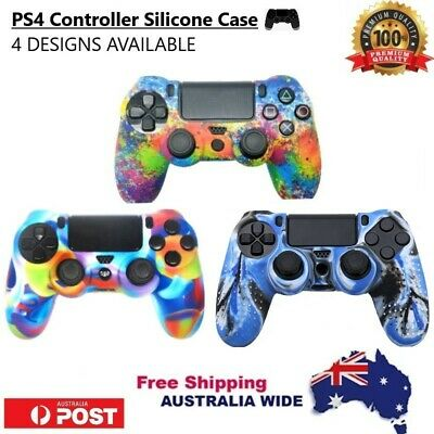 AU10.90 • Buy PS4 Controller Case/Cover/Skin Silicone Protective Soft Grip - 4 DESIGNS