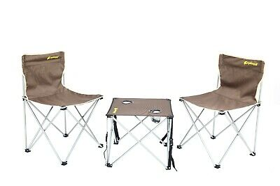 £29.99 • Buy Camping Table And Chair Set 3 Piece Outdoor Beach Picnic Furniture Fishing