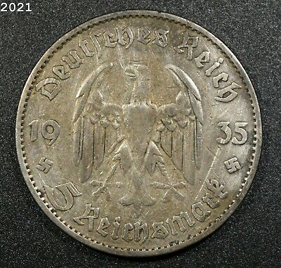 $ CDN2.79 • Buy 1935 *Silver* Germany 5 Reichsmark *Free S/H After 1st Item*
