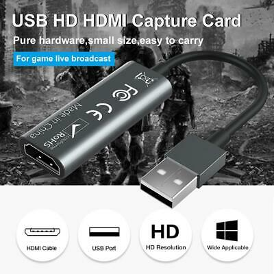 Card Video Recorder Game Lightweight Capture Portable Captu Live Video HDMI • 6.90£