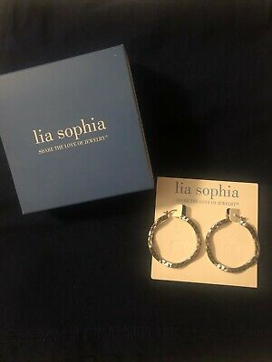 $ CDN25.23 • Buy Lia Sophia  Waverly  Silver Tone Hoop Earrings