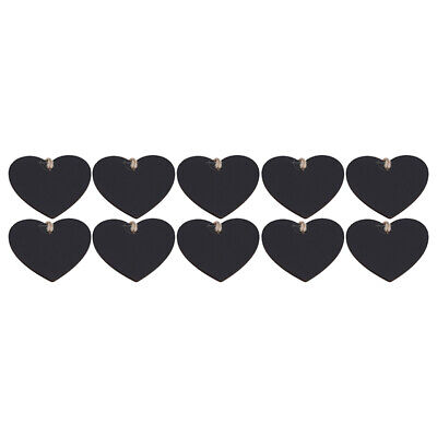 £3.26 • Buy Home Decor Mini Heart Shaped DIY Hanging Wooden Chalkboard Gift Price Tags ONE