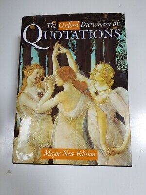£3.50 • Buy Oxford Dictionary Of Quotations.  Edited By Elizabeth Knowles.  2001