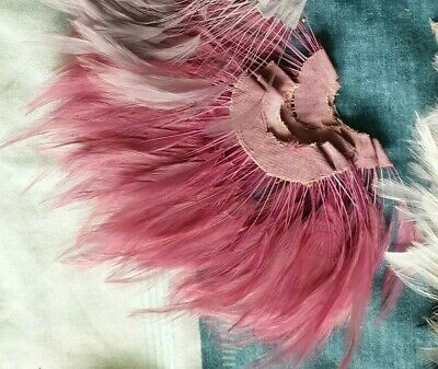 [Reduced] Stripped Goose Feathers Millinery Hat Fascinator Trimmings-Rose Pink • 3.49£
