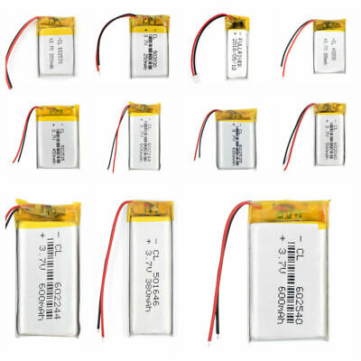 Rechargeable Battery Li-Po 3.7V 70~950mAh Cell For MP3 MP4 MP5 PDA PSP Bluetooth • 5.38£