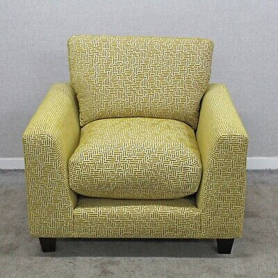 Marks & Spencer Adwell Encore Chair Armchair Ochre Gold Patterned Fabric • 395£