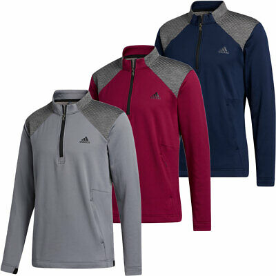 Adidas Golf Mens COLD.RDY Quarter Zip Jacket Long Sleeve Pullover Top / NEW 2020 • 49.95£