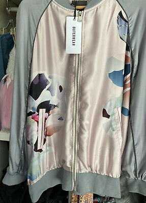 Womens Size 20 NEXT Shell Suit Jacket RRP £50 Grey And Pink • 6.50£