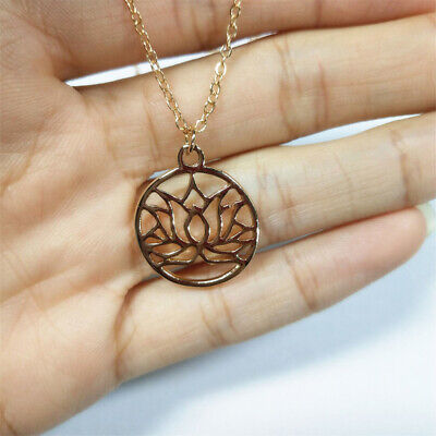 $ CDN3.20 • Buy Fashion Hollow Lotus Flower Cut Pendant Charms Jewelry Making Finding DIY LR