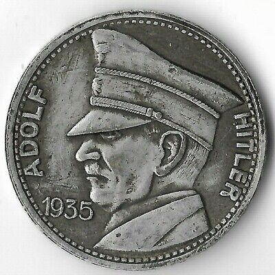 $ CDN26.84 • Buy Rare German Leader WWII Germany 5 Reichsmark Eagle Collection War Coin Token 471