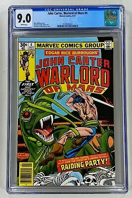 $1.25 • Buy John Carter Warlord Of Mars #7 CGC 9.0 WP NM Marvel 1977 Awesome Gil Kane Cover