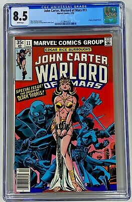 $11.50 • Buy John Carter Warlord Of Mars #11 CGC 8.5 WP VF Marvel 1978 Origin Of Dejah Thoris