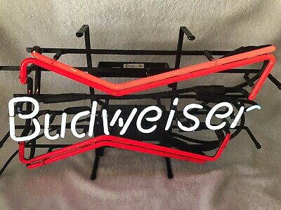 $ CDN335.12 • Buy Vintage 1998 BUDWEISER Beer Double Bow Tie Neon Bar Advertising Sign Light