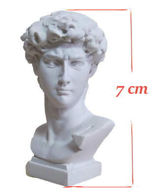 Mini David Europe Michelangelo Head Bust Greek Mythology Statue Home Decoration • 5.99£