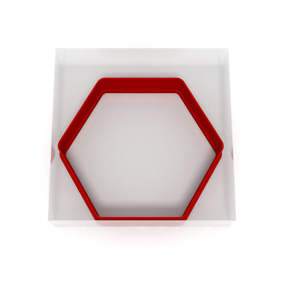 £3.99 • Buy 8CM Hexagon Cookie Cutter Biscuit Dough Icing Shape Biscuit Cake 6 Sides