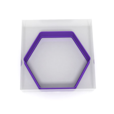 £4.29 • Buy 10CM Hexagon Cookie Cutter Biscuit Dough Icing Shape Biscuit Cake 6 Sides