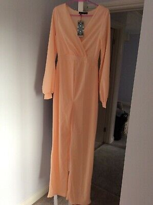 £10 • Buy Boho Peach Colour Maternity Jump Suit In Size 8