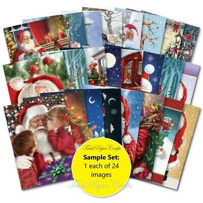 SAMPLE SET Of 24xA6 Sheets ~ Hunkydory's THE LITTLE BOOK OF FATHER CHRISTMAS • 2.99£