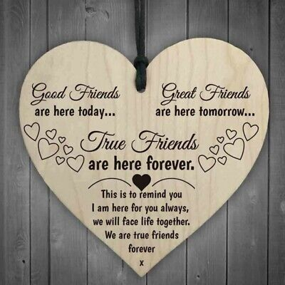 £2.99 • Buy Heart Shaped Wooden Hanging Pendant Signs