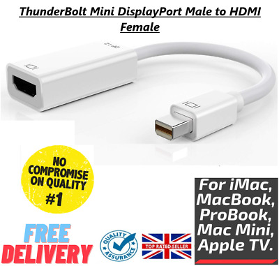 Mini Display Port DP ThunderBolt To HDMI Adapter Cable For Macbook Pro IMac NEW • 4.99£