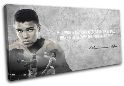 £29.99 • Buy Boxing Quote Muhammad Ali Sports SINGLE CANVAS WALL ART Picture Print