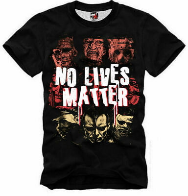 E1syndicate T Shirt  No Lives Matter  Freddy Jason It Pennywise Hellraiser 5266 • 17.98£