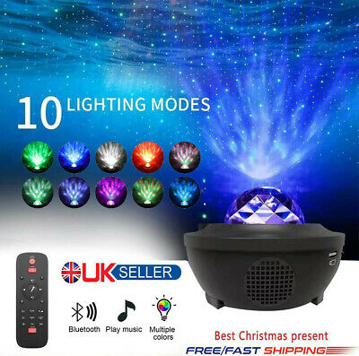 GALAXY360PRO PROJECTOR - Music Starry Water Wave LED Projector Light Bluetooth • 26.99£