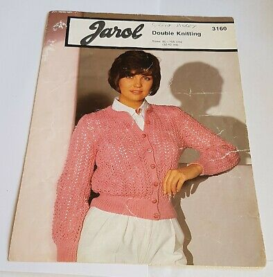 Vintage Jarol Knitting Pattern Womans Lacy Cardigan • 2.99£