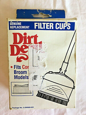 $15.99 • Buy Dirt Devil Cordless Broom Vac Filter Cups 2 New Genuine Replacement