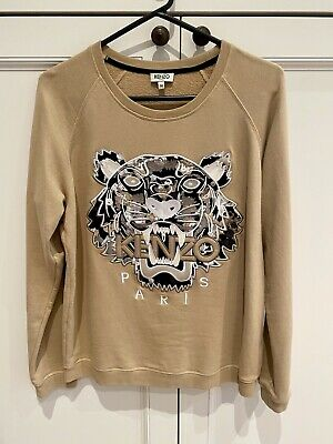 AU150 • Buy Kenzo Jumper Sweater Tiger Beige Tan Sz M