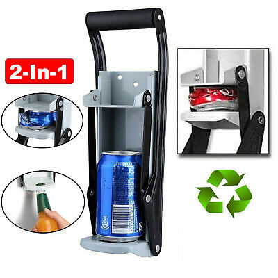 16oz Large Beer Tin Can Crusher Wall Mounted Recycling Tool Bottle Opener 500ml • 7.69£