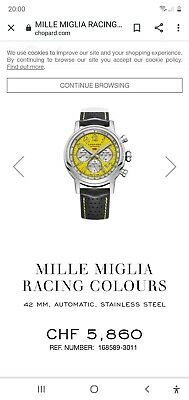 Chopard Mille Miglia Racing Colours 42mm, Automatic, Stainless Steel • 2,900£
