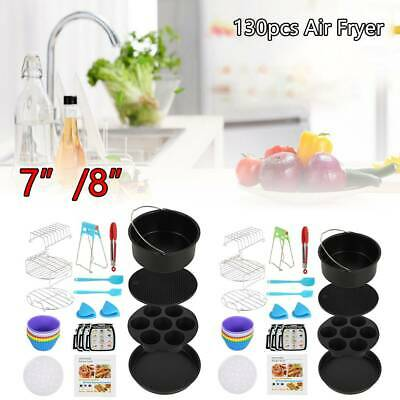 AU51.55 • Buy 130PCS 7/8in Air Fryer Accessories Rack Cake Pizza Oven Barbecue Frying Pan Tray