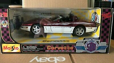 $9.99 • Buy Maisto 1:18 Limited Edition 1995 Corvette Indy 500 Official Pace Car - Brand New
