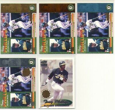 $75 • Buy Tony Phillips Athletics 5X 1999 - 2001 Pacific Inventory Non #d Parallel Lot 1/1