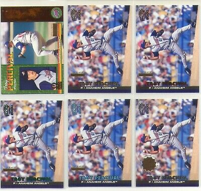 $60 • Buy Troy Percival Angels 6X 1999 - 2001 Pacific Inventory Non #d Parallel Lot 1/1
