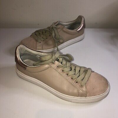 AU50 • Buy Dept Of Finery Shoes DOF Sneakers Nude Metallic Detail Leather Chic Cute Size 37