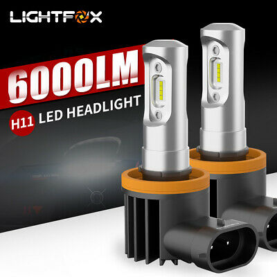 AU59.95 • Buy Pair LIGHTFOX 6000LM H11 LED Headlight Kit Hi/Lo Beam Driving Globe Bulbs