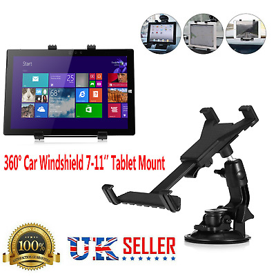 360° Car Windshield Mount Holder For 7-11  IPad Mini/2/4/5/Air Tablet Universal • 6.59£