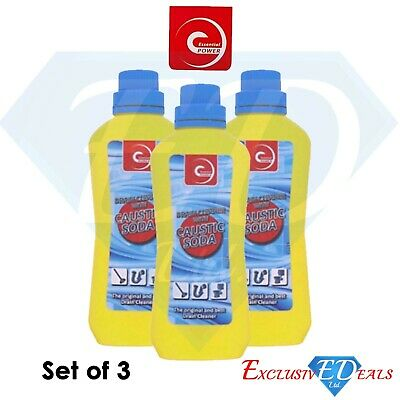 £9.95 • Buy 3 X Caustic Soda Drain Cleaner 500g Heavy Duty Cleaner & Degreaser For Home