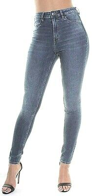 £9.99 • Buy Skinny High Waisted Jeans Jeggings Ex Hm Womens Stretchy Denim Faded Pants 4-20