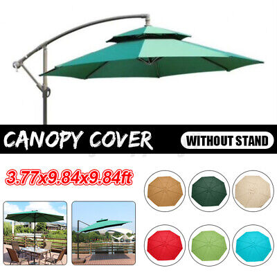 Fabric Garden Parasol Canopy Cover Roof Replacement For 3x3M 8 Arm Umbrella New • 31.24£